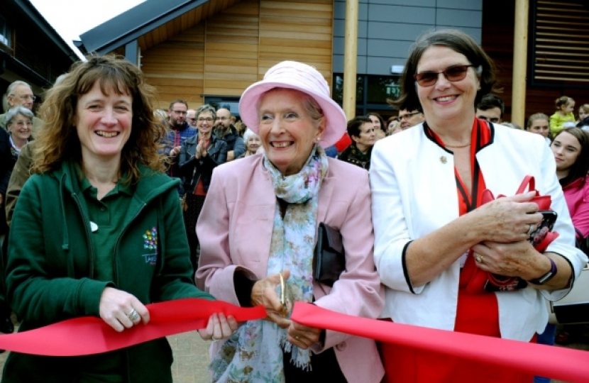 Margaret at the opening of the Lavenham Pre-School Building.