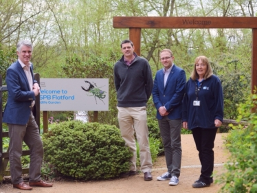 James Cartlidge MP at Flatford Wildlife Garden